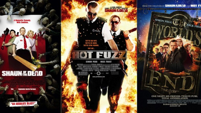La trilogie du cornet trois parfums de Edgar Right composée de Hot Fuzz, Shaun of the Dead et the World's end