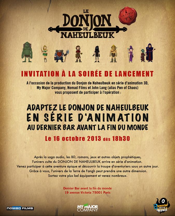 invitation Le Donjon de Naheulbeuk la série