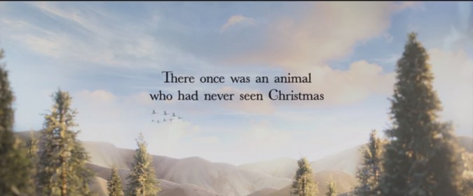There once was an animal who had never seen Christmas
