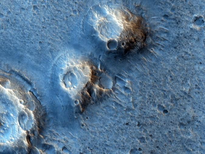 Vue satellite réelle de l'Acidalia Planitia, où se déroule l'histoire