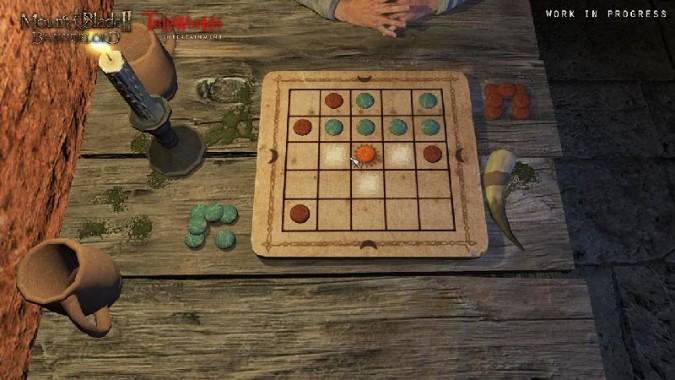 Un jeu de plateau jouable dans Mount and Blade II Bannerlord