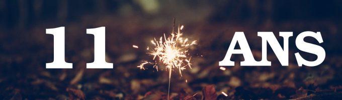 11 ans. Une bougie pour célébrer l'anniversaire du blog.